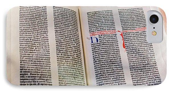 Gutenberg Bible IPhone Case