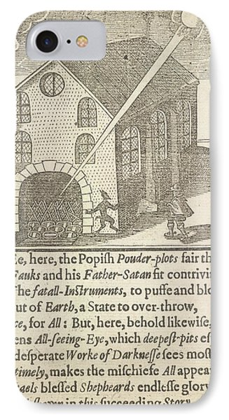 Guy Fawkes And Satan IPhone Case by British Library