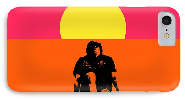Guy Floating On Background Of Sunset IPhone Case by Tommytechno Sweden
