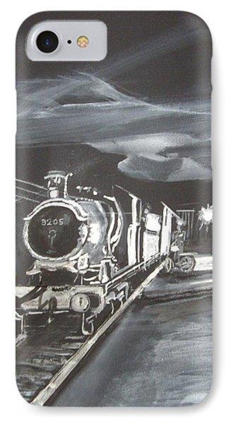Gwr God's Wonderful Railway No 3205 IPhone Case by Carole Robins