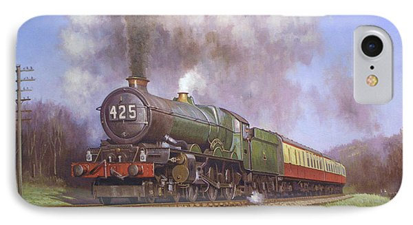 Gwr King Class On Dainton Bank. Phone Case by Mike  Jeffries