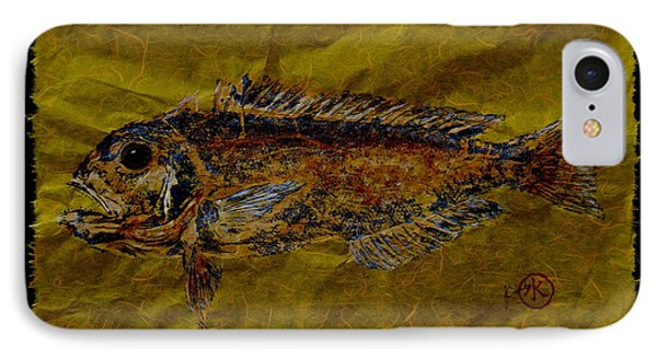 Gyotaku - Golden Tilefish - Clown Of The Sea - Blanquillo IPhone Case by Jeffrey Canha