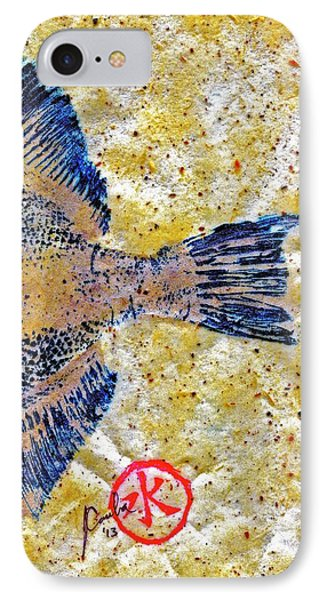 Gyotaku - Triggerfish - Oldwench -  Diptych 2  IPhone Case by Jeffrey Canha
