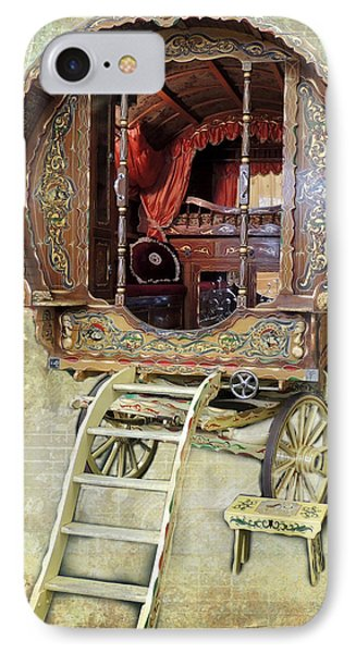 Gypsy Wagon IPhone Case by Mim White