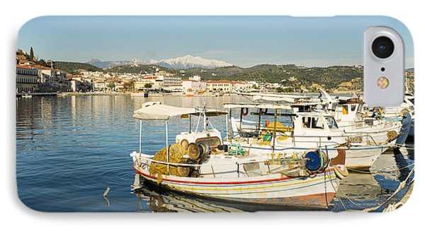 Gytheion Harbour IPhone Case by Mike Santis
