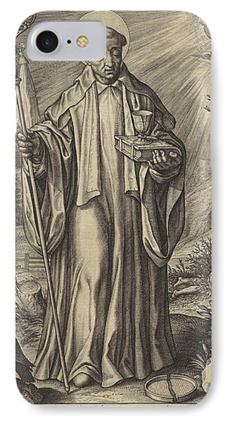 H Benedict Of Nursia, Hieronymus Wierix IPhone Case