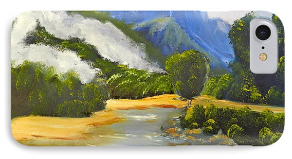 IPhone Case featuring the painting Haast River New Zealand by Pamela  Meredith