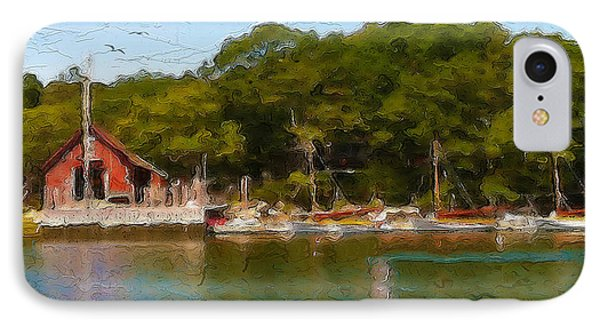 Hadleys Harbor IPhone Case by Michael Petrizzo