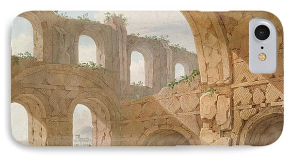 Hadrians Villa, Near Tivoli IPhone Case by Charles Louis Clerisseau