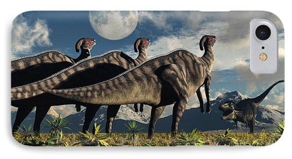 Hadrosaurid Duckbill Dinosaurs Use IPhone Case