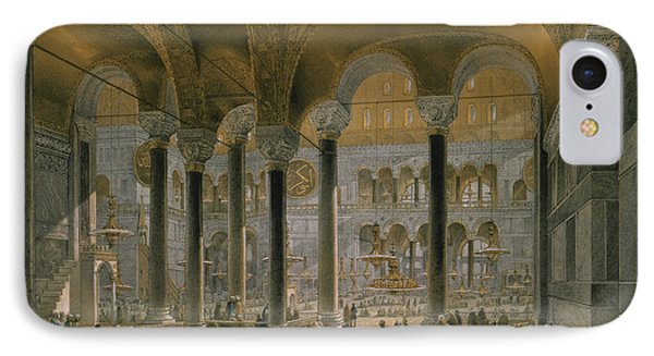 Haghia Sophia, Plate 6 The North Nave Phone Case by Gaspard Fossati