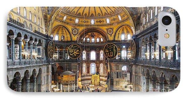 Hagia Sofia Interior 35 IPhone Case by Antony McAulay