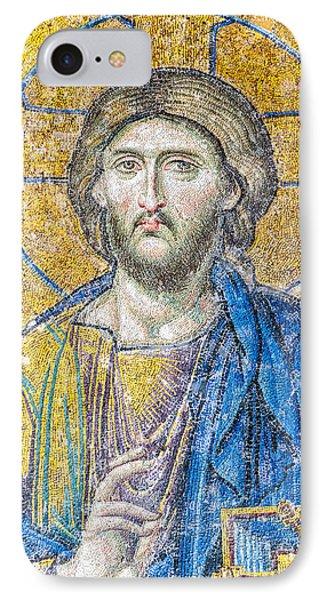 Hagia Sofia Jesus Mosaic IPhone Case by Antony McAulay