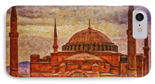 Hagia Sophia Digital Painting IPhone Case by Antony McAulay