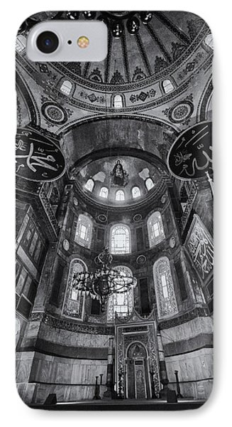 Hagia Sophia Interior - Bw IPhone Case by Stephen Stookey