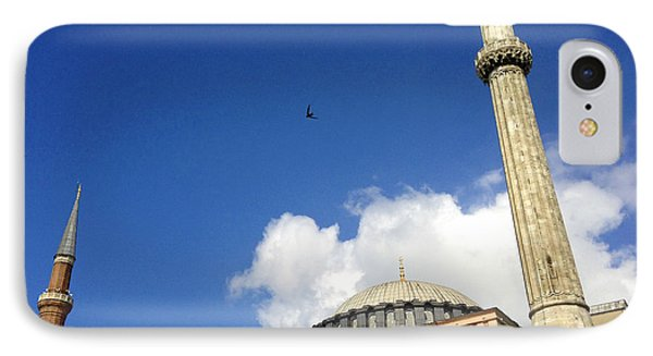 Hagia Sophia With Two Minarets Istanbul Turkey Phone Case by Ralph A  Ledergerber-Photography