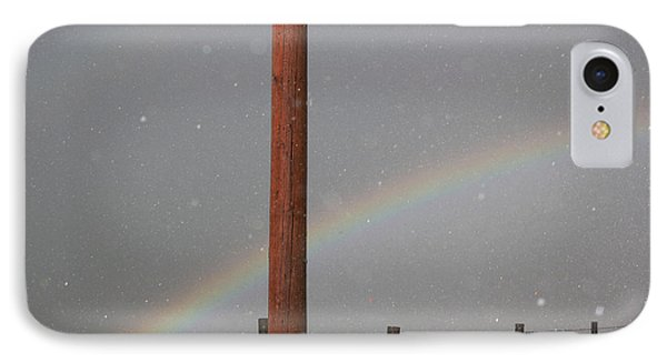 IPhone Case featuring the photograph Hail And Rainbow by Ryan Crouse