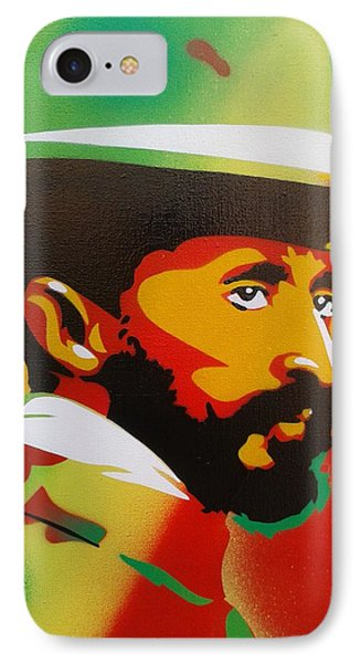 Haile Selassie Painting IPhone Case by Leon Keay