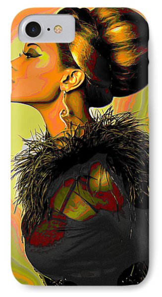 Hair Bun IPhone Case by  Fli Art