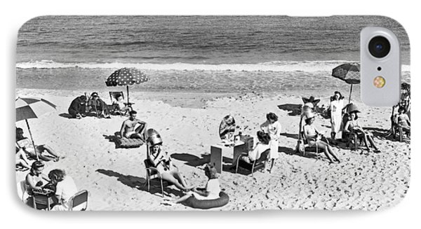 Hair Salon On The Beach IPhone Case by Underwood Archives