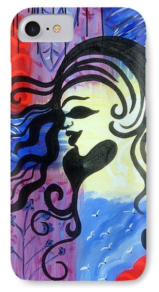 Hair Silhouette Phone Case by Lorinda Fore