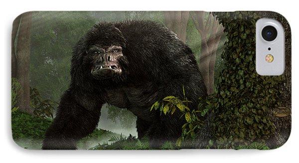 Hairy Beast IPhone Case by Daniel Eskridge