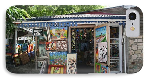 IPhone Case featuring the photograph Haitian Art Shack by The Art of Alice Terrill