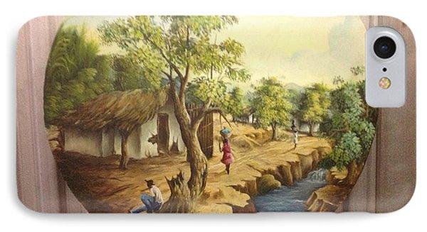 Haitian Landscape IPhone Case by Haitian artist