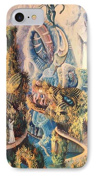 Haitian Mystical Mandscape IPhone Case by Dimanche