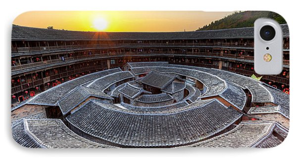 Hakka Tulou Traditional Chinese Housing At Sunset Phone Case by Fototrav Print