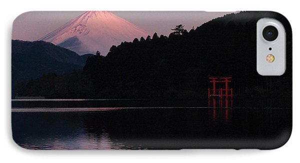 IPhone Case featuring the photograph Hakone Waters Fuji  by John Swartz
