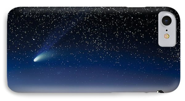 Hale Bopp And Observatories, Hawaii IPhone Case
