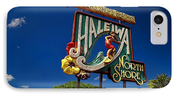 IPhone Case featuring the photograph Haleiwa Sign On The North Shore Of Oahu by Aloha Art
