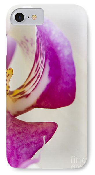 Half An Orchid Phone Case by Anne Gilbert