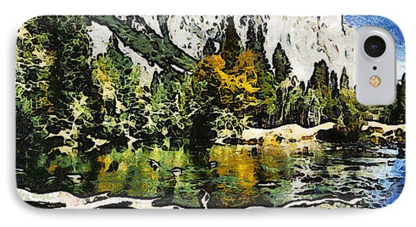 Half Dome At Yosemite Abstract IPhone Case by Barbara Snyder