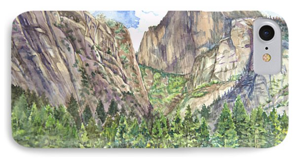 Half Dome In Spring Phone Case by Heewon Kim