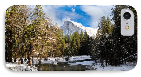 Half Dome In Winter IPhone Case by Bonnie Fink