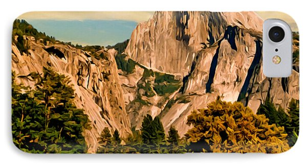 Half Dome Painting Phone Case by Bob and Nadine Johnston