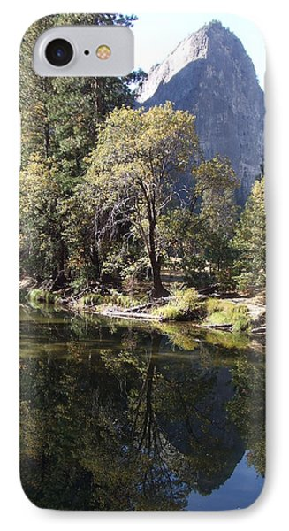 IPhone Case featuring the photograph Half Dome Reflection by Richard Reeve