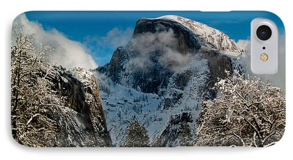 Half Dome Winter Phone Case by Bill Gallagher