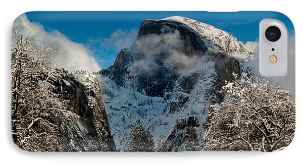 Half Dome Winter IPhone Case by Bill Gallagher