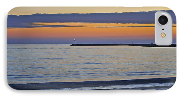 Half Moon Bay Under The Moon At Sunset IPhone Case