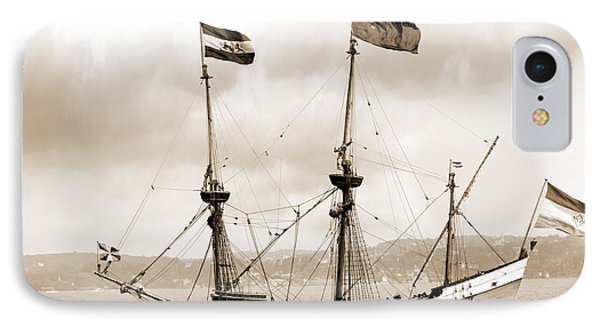 Half Moon Re-entered Hudson River After An Absence Of 300 Years In Sepia Tone IPhone Case