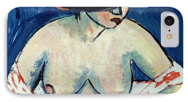 Half Naked Woman With A Hat IPhone Case by Ernst Ludwig Kirchner