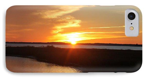 IPhone Case featuring the photograph Half Sun Horizon by Robert Banach