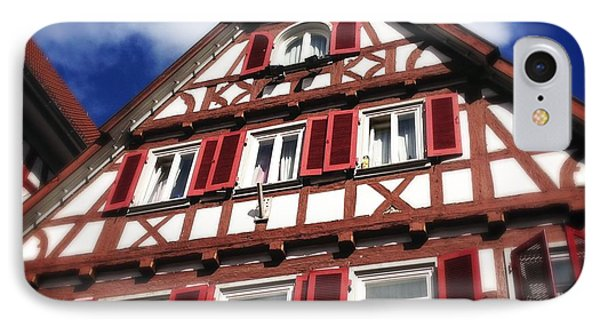 Half-timbered House 09 IPhone Case by Matthias Hauser