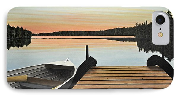 IPhone Case featuring the painting Haliburton Dock by Kenneth M  Kirsch