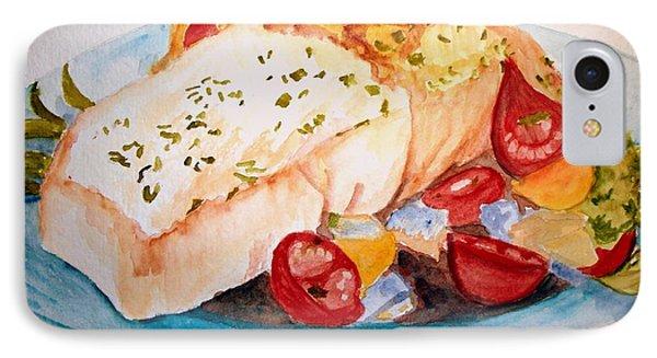 Halibut Dinner IPhone Case by Carol Grimes