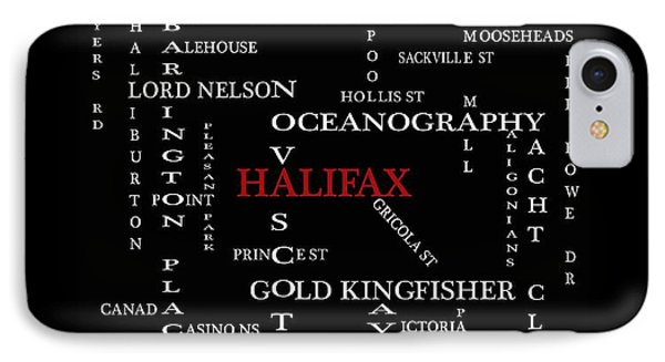 Halifax Nova Scotia Landmarks And Streets IPhone Case by Barbara Griffin