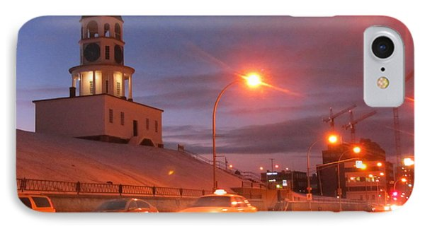 Halifax Town Clock In Halifax Nova Scotia Phone Case by Halifax photographer John Malone